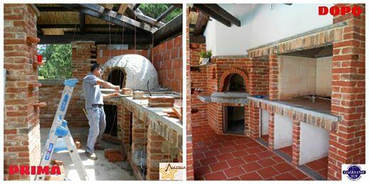 Gallery ristrutturazioni la stella - Cucina esterna in muratura ...